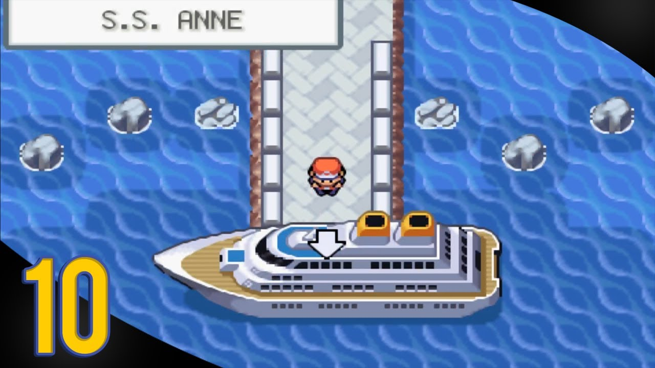 Pokemon Fire Red Walkthrough  Part 10  S.S. Anne  YouTube