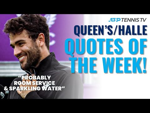 Murray Advising Sinner; Berrettini's Sparkling Water & Best Tennis Quotes from Halle & Queen's 2021!