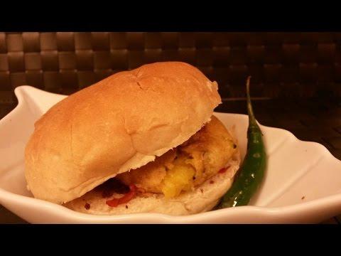Vada Pav- Vegetarian Indian Burger- spicy fast food recipe by Tastebeat