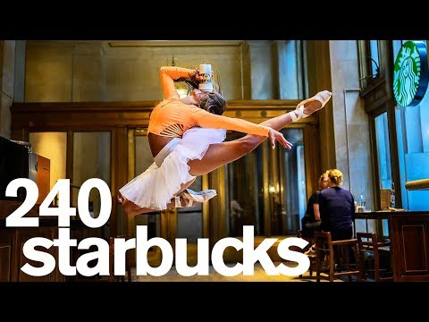 A Photo in Every Starbucks in NYC *1 Day Challenge* - Jordan Matter