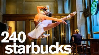 A Photo in Every Starbucks in NYC *1 Day Challenge*