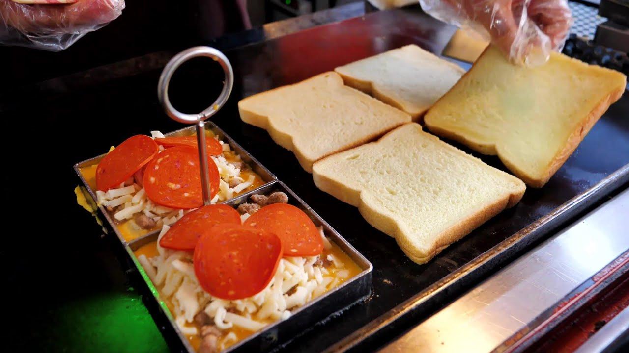 콤비네이션 피자 토스트 / Combination Pizza Toast / Korean Street Food
