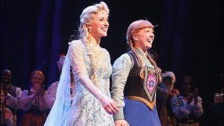 Frozen Broadway HD VIDEO Cast Standing Ovation / Bows - Patti Murin - Alyssa Fox - Jelani Alladin