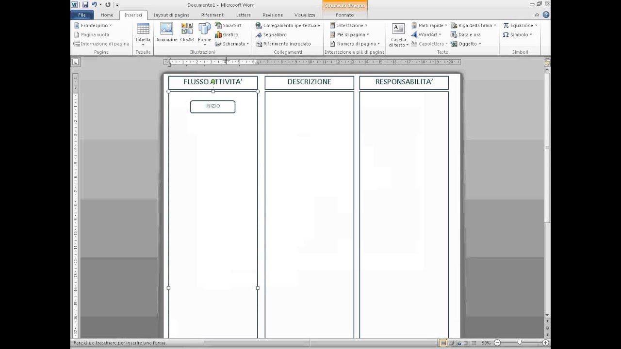 9 Creazione Documenti In Word Creare Un Flow Chart