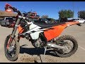 KTM 350 EXC F riding MX track trails Metcalf Motorcycle Park Oct 2017