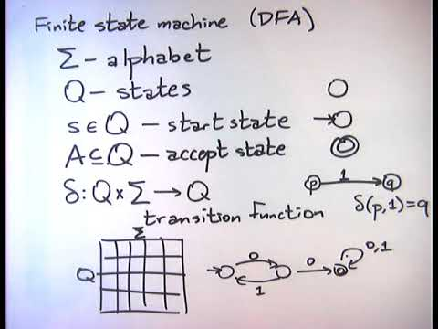2014-09-09 DFAs - design techniques, product construction, closure properties of regular languages