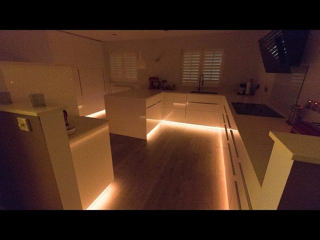RGBW LEDs installed for kitchen plinth highlights