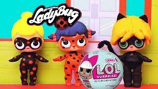 Miraculous Ladybug, Cat Noir e Antibug Feitas com Bonecas Surpresas L.O.L DIY -Brinquedonovelinhas thumbnail
