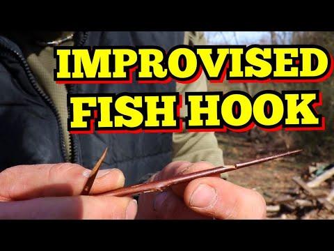 IMPROVISED FISH HOOK, LOCUST TREE THORN