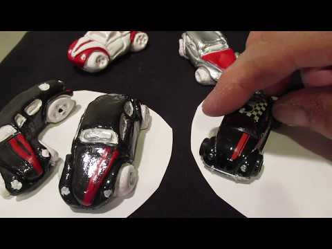HOT WHEELS. Volkswagen Beetle Pawn . CARTOON CARS made with Polymer Clay.