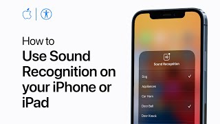 How to use Sound Recognition on your iPhone or iPad - Apple Support