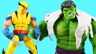 Marvel Legends Series Wolverine Vs Hulk + Hulk Smash ! Superhero Toys