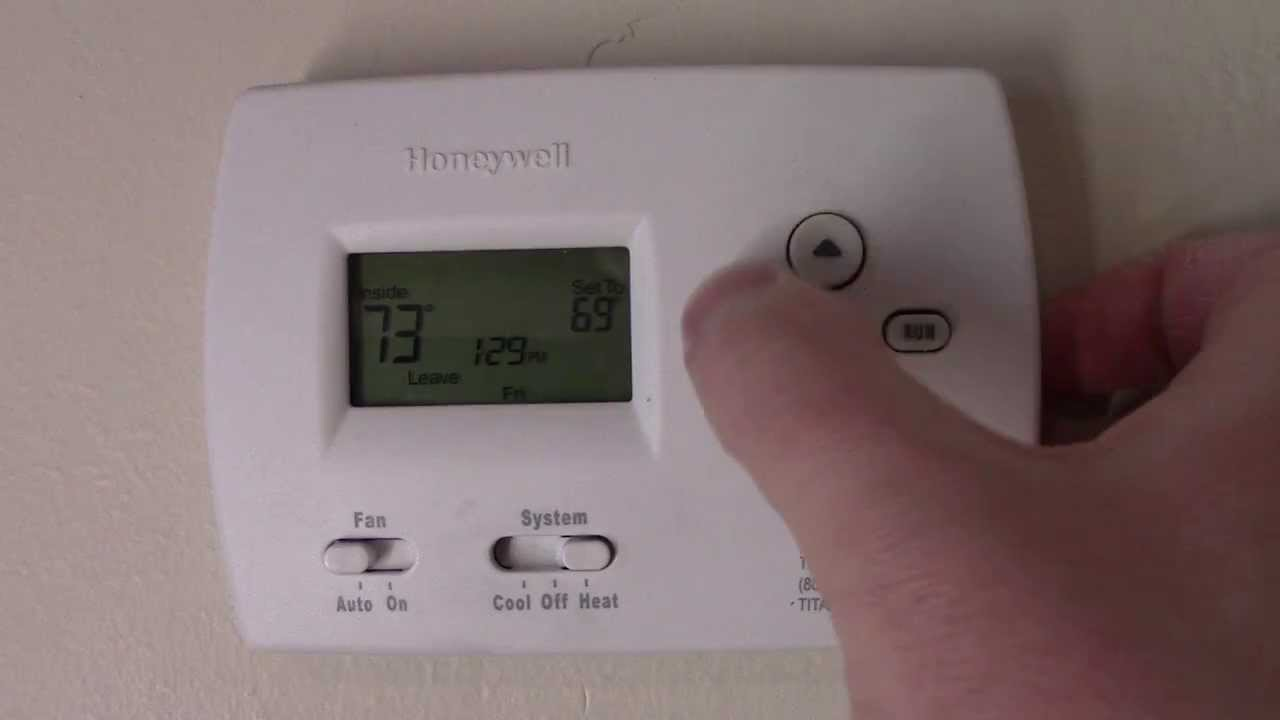 How To Program A Honeywell Thermostat Youtube