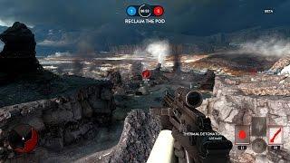 Star Wars: Battlefront Multiplayer Gameplay - Drop Zone on Sullust!