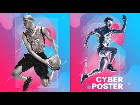 Photoshop Tutorial | Cyber Poster Photoshop Action