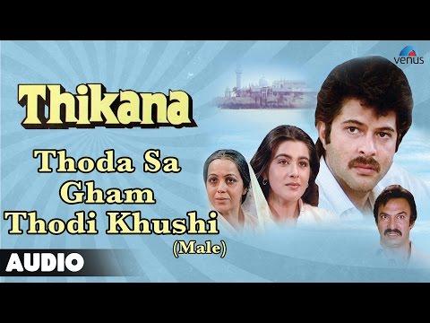 Thikana : Thoda Sa Gham Thodi Khushi-Male Full Audio Song   Anil Kapoor, Amrita Singh  