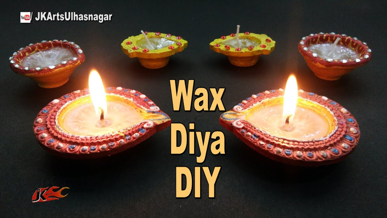 Diy wax diya for diwali decoration how to make candles for Diya decoration youtube