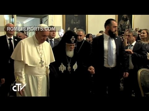 Pope and Patriarch of Georgia set the tone for improved relations between their Churches