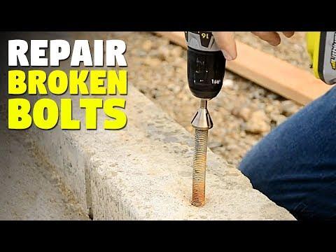 Uniburr   Deburring Tool That Repairs Damaged Bolts