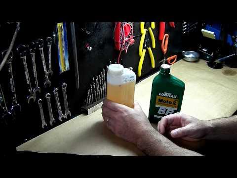 2 stroke engine gas oil mixture