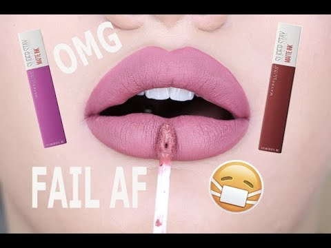 Honest Af Review New Maybelline Matte Ink Liquid Lipsticks Youtube