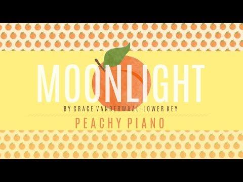 Moonlight - Grace VanderWaal (Lower Key) | Piano Backing Track