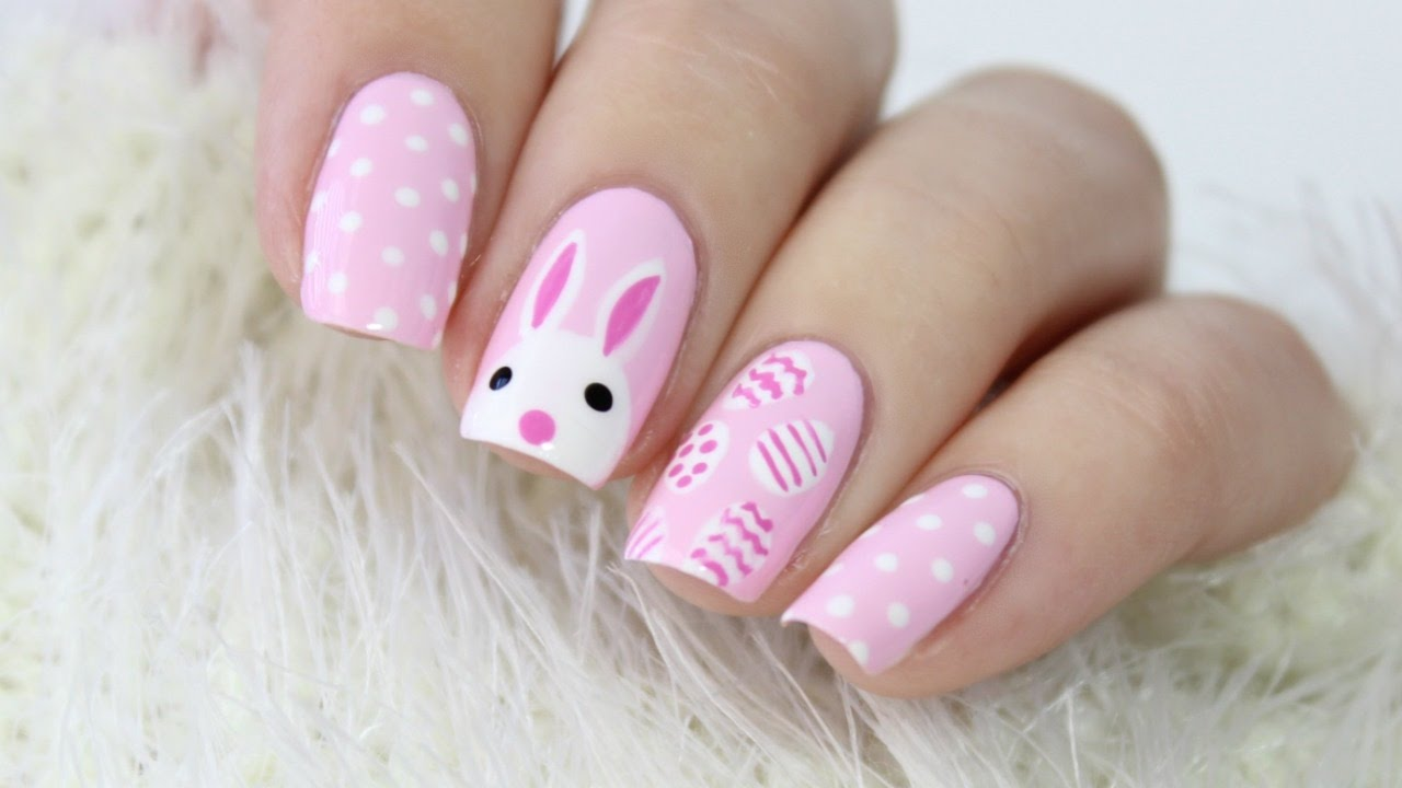 cute & easy easter bunny nails