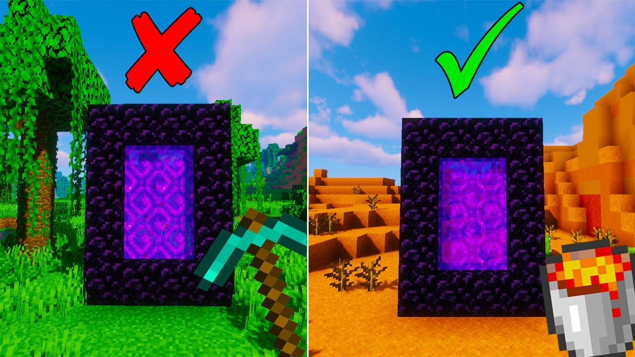 How to Make a Nether Portal without Mining Obsidian in Minecraft