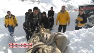 Brandayla karda 500 metre çekilerek ambulansa ulaştırıldı