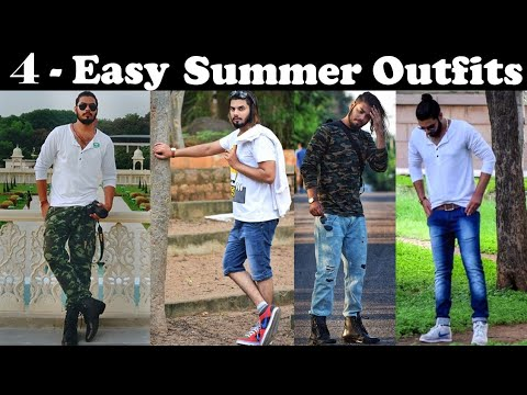 4 Summer Outfit Style For INDIAN Men 2018 | Men's Summer Fashion | Asad Ansari