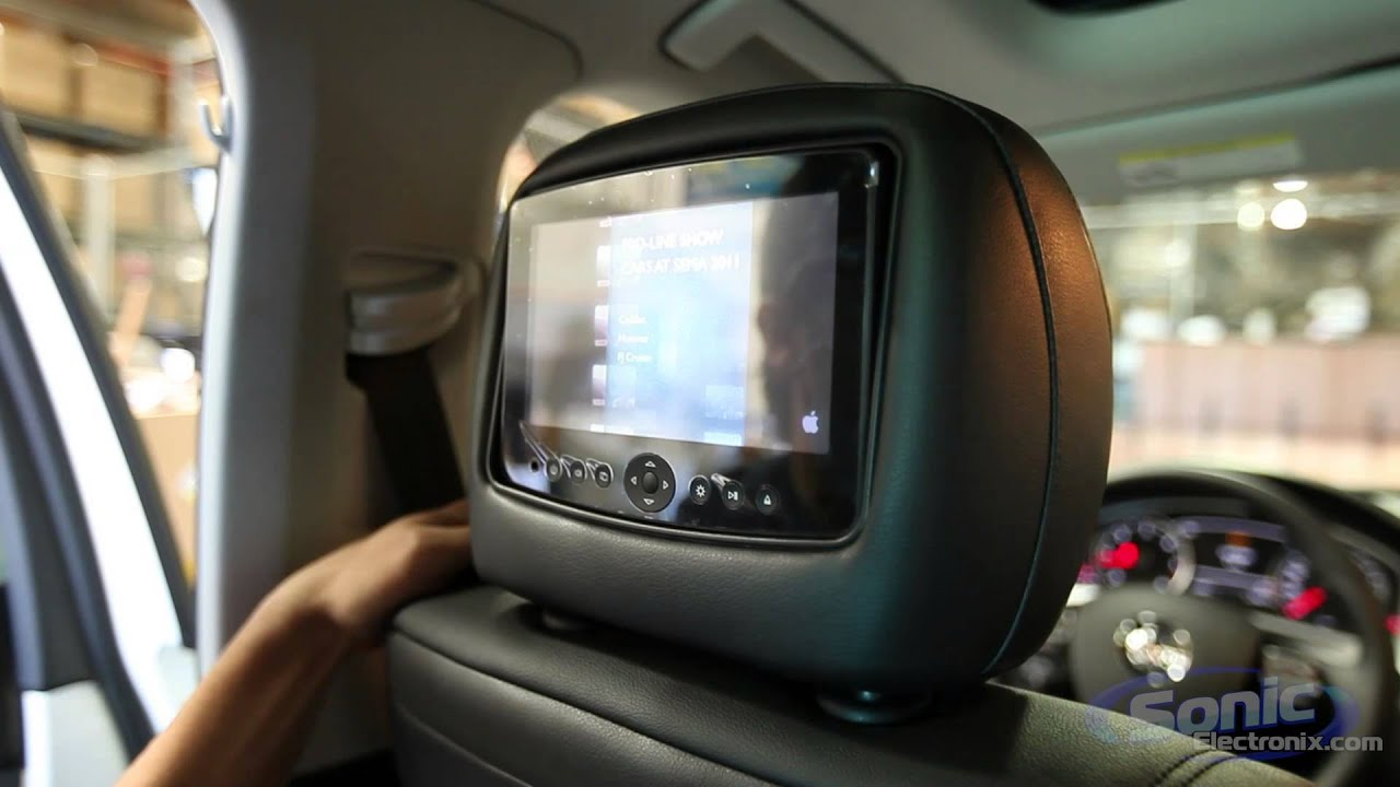 Carshow Vehicle Specific Head Rest Monitors Ipod Usb Dvd Mp3