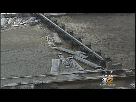 Flooding Sends Barges Down Ohio River, Against Emsworth Locks & Dam
