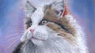 Как нарисовать пастелью кошку по онлайн-уроку - @risuemdoski