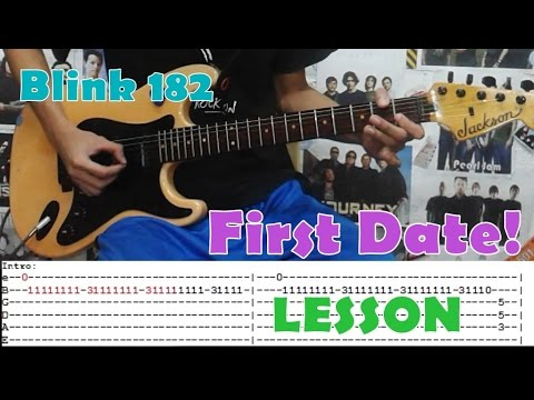 First Date Blink 182guitar Lessoncoverwith Chords And Tab Youtube