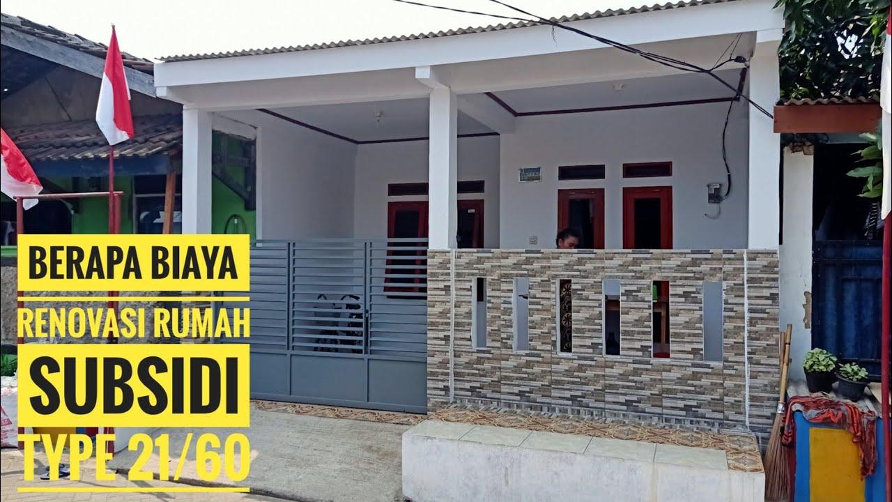 RENOVASI RUMAH SUBSIDI TYPE 21/60 ll BERAPA BIAYA RENOVASI ...