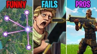 CUBE MAP PATTERN REVEALED! FUNNY vs FAILS vs PROS - Fortnite Funny Moments 274 (Battle Royale)