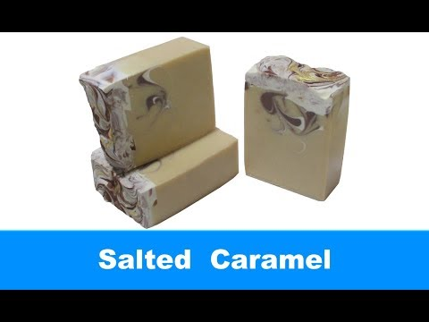 Salted Caramel, Cold Process Soap Making and Cutting