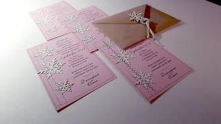 Зимние свадебные приглашения ☆флористика и декор☆