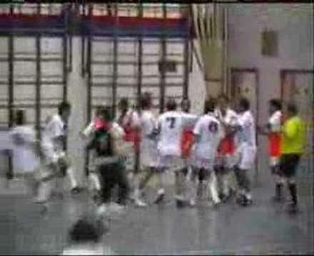 Indoor soccer fight