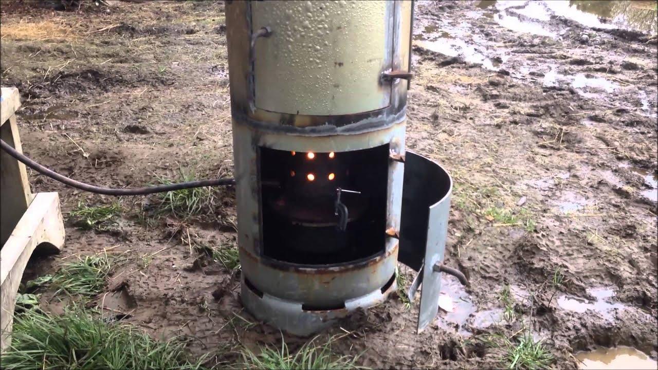 Kiwi Waste Oil Burner (DIY Shed heater) - YouTube