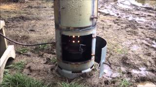 Kiwi Waste Oil Burner (diy Shed Heater)