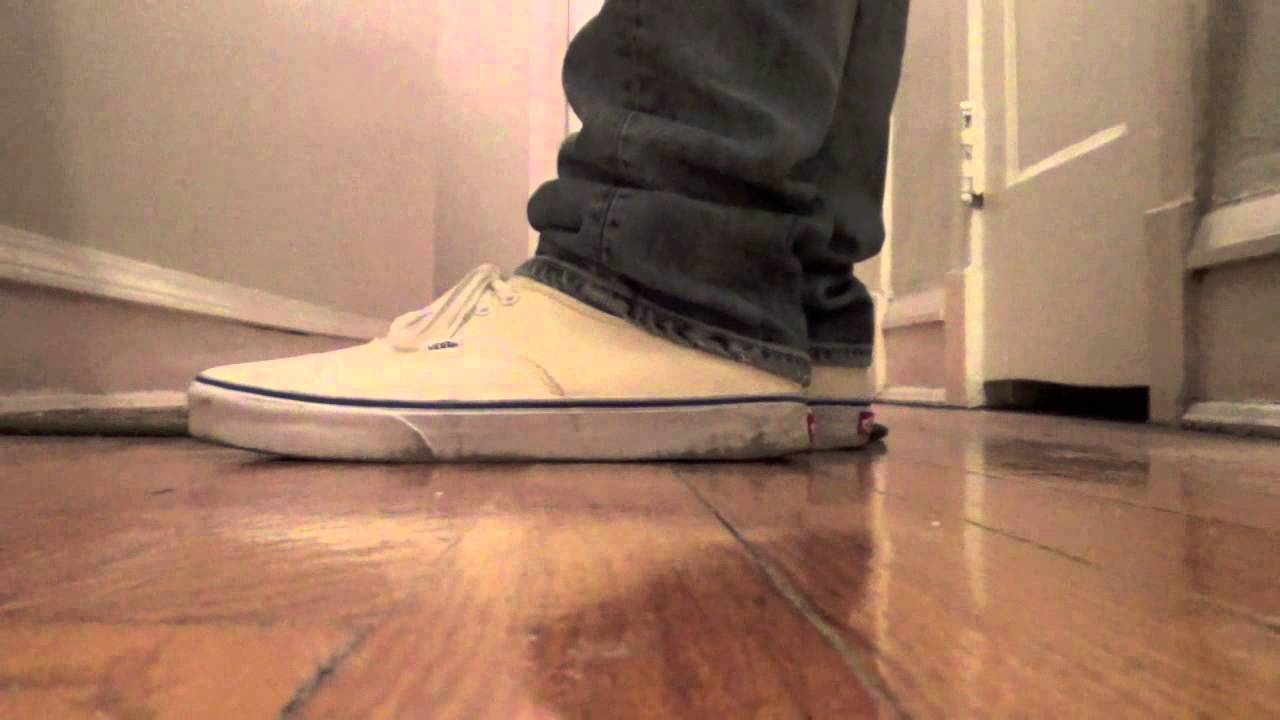 vans authentic off white on feet