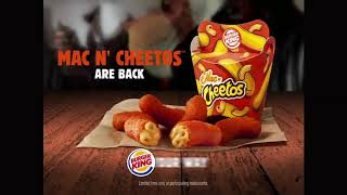 Burger King Commercial 2017 Return of The Mac N' Cheetos
