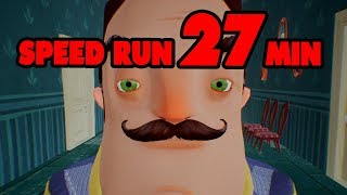 Hello Neighbor Full Game Speedrun [27 MINUTES]