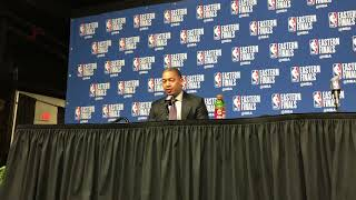 Tyronn Lue said the Cavs stopped switching on defense and it's helped against the Celtics