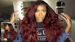 🔥How To Transform Your Hair into this BOMB Burgundy/Red Color| Lumiere Hair