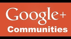 How to make a Google+ Community (Basic Tutorial)