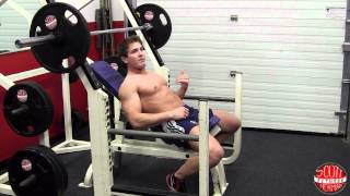 How To: Barbell Incline Chest Press