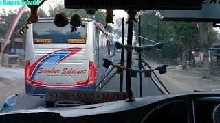 Nyaris tipis !! Bus Mira 7820 Vs Sumber Selamat disalip diTikungan