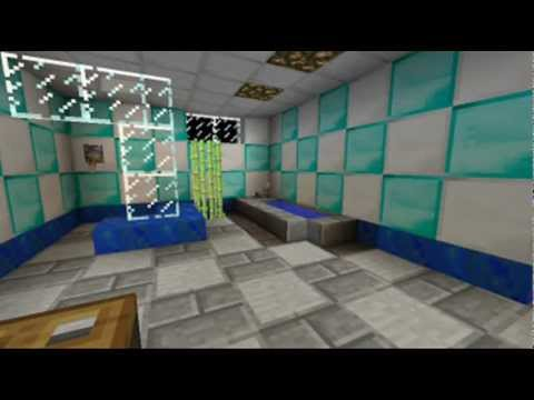 Bathroom Ideas On Minecraft minecraft bathroom design - youtube
